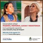 Luisa Calcumil y Susy de Pompert