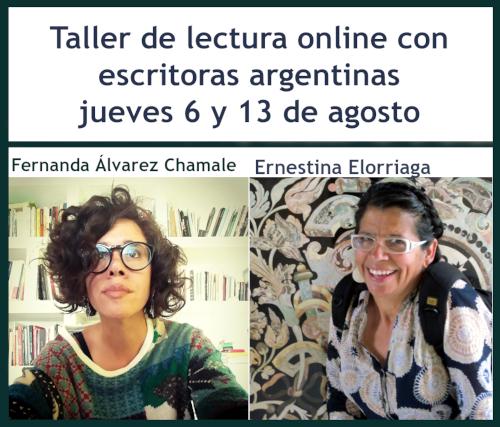 Escritoras argentinas darán un Taller de Lectura on line los días jueves 6 y 13 de agosto
