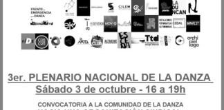 3 de octubre - 3er. Plenario Nacional de la Danza