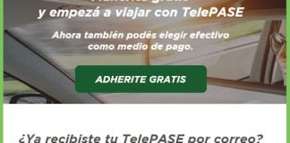 TelePASE: sumate hasta el 27 de septiembre para viajar por las autopistas de la Ciudad