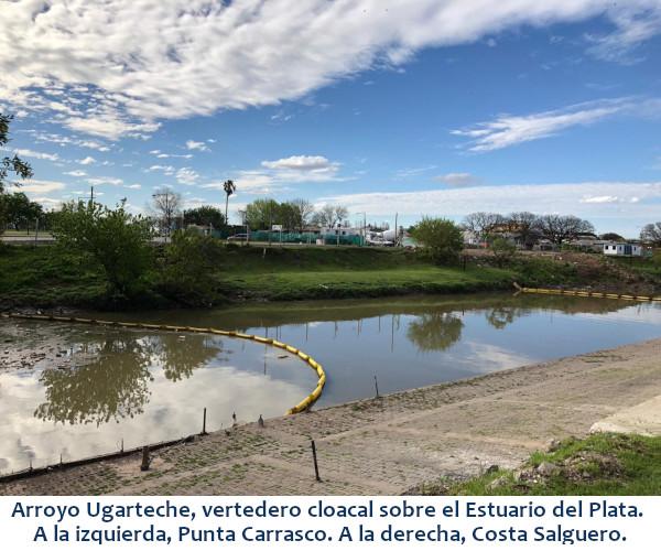 rroyo Ugarteche, vertedero cloacal sobre el Estuario del Plata. A la izquierda, Punta Carrasco. A la derecha, Costa Salguero.