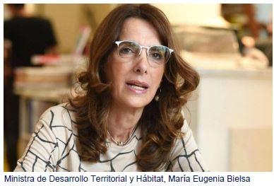 Ministra de Desarrollo Territorial y Hábitat, María Eugenia Bielsa
