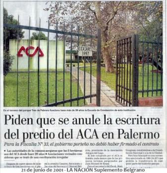 21 de junio de 2001 - LA NACIÓN Suplemento Belgrano