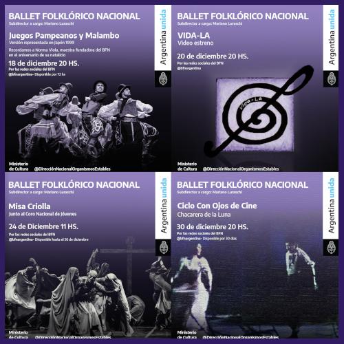 Funciones con las que cierra el año el Ballet Folklórico Nacional
