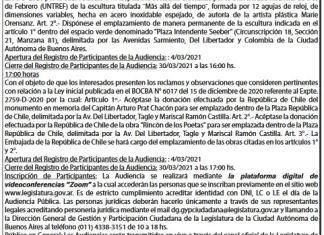Convocatoria a Audiencia Pública 06-04-2021 a las 16 hs.