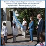 Larreta visitó a la Escuela Juan Crisóstomo Lafinur en Palermo