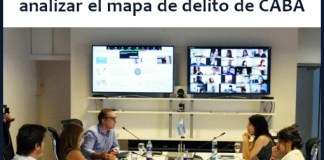 encuentro virtual con vecinos, organizado por el CEM –Centro de Estudios Metropolitanos- para analizar el mapa de delito de CABA