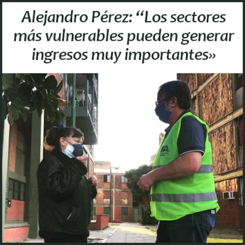 Alejandro Pérez habla de su trabajo incentivando la economía popular