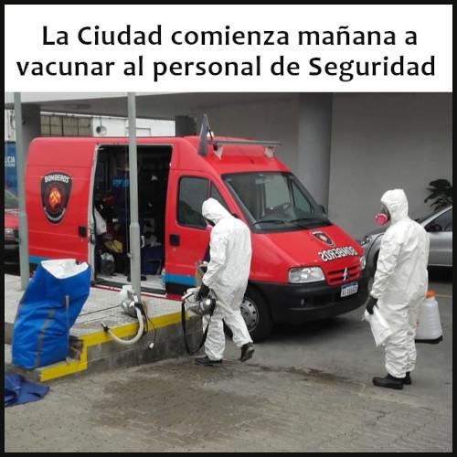 vacunación del personal de Seguridad en la Ciudad