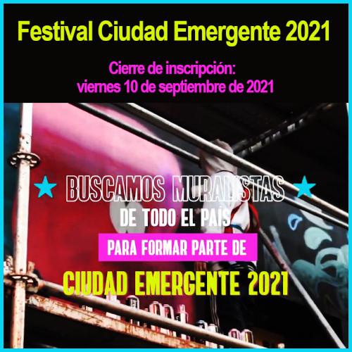 Artistas visuales pueden formar parte de Ciudad Emergente 2021