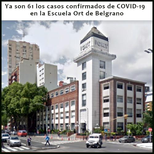 Con 18 nuevos casos confirmados ya son 61 los positivos en el colegio ORT de Belgrano