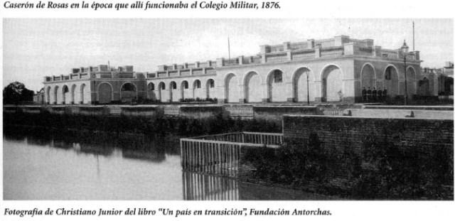 Colegio Militar en el Caserón de Rosas en el año 1876