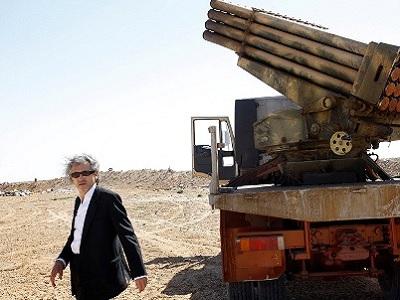 Bernard Henri Levy in Libya during the war.