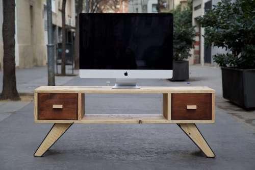 Muebles Tv De Palets Paletosnet Para Decorar Tu Salon - Muebles-con-pale