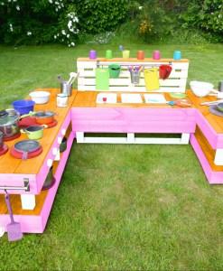 kinderkueche-matschkueche-holz-xl-orange-rosa-palettenmoebel-palettery