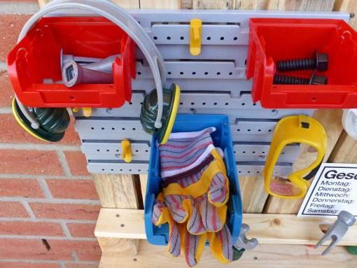 Kinder Werkbank aus Paletten Holz Palettery3
