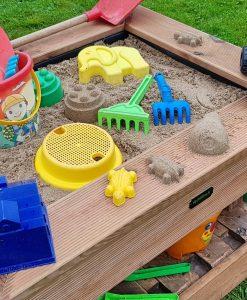 Palettery Paletten Sandkasten Kinder 11