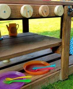 Kinderküche Matschküche aus Paletten Möbel (13)