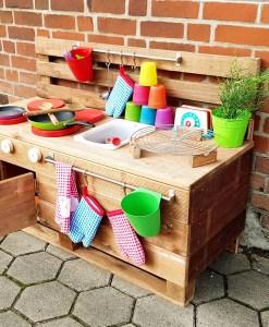 Matschküche Kinderküche LTKO aus Paletten Möbel Holz (7)