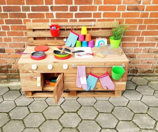 Matschküche Kinderküche LTKO aus Paletten Möbel Holz (8)