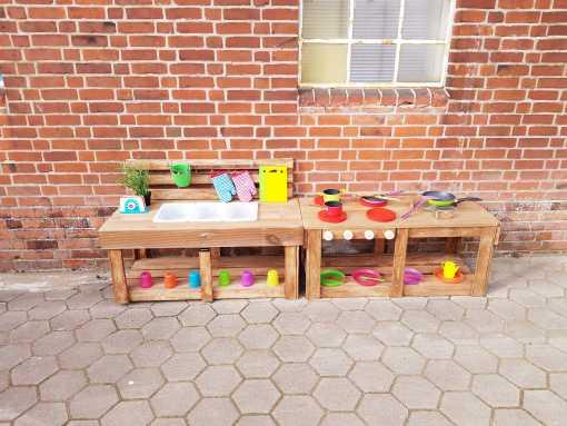 Matschküche Kinderküche aus Paletten Holz MMP 1 (1)