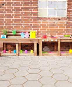 Matschküche Kinderküche aus Paletten Holz MMP 1 (2)