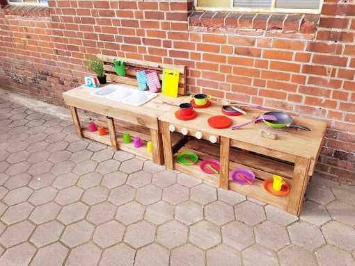 Matschküche Kinderküche aus Paletten Holz MMP 1 (3)