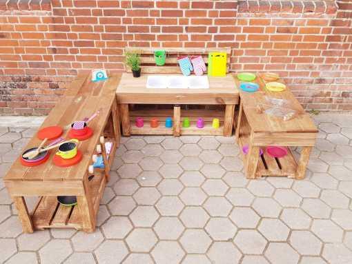 Matschküche Kinderküche aus Paletten Holz XLMP 1 (3)
