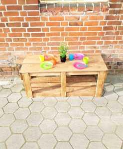 Spielflächenerweiterung Groß aus Holz für Matschküchen - Modul Plus 1 (2)