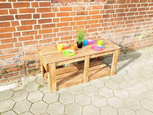Spielflächenerweiterung Groß aus Holz für Matschküchen - Modul Plus 1 (6)