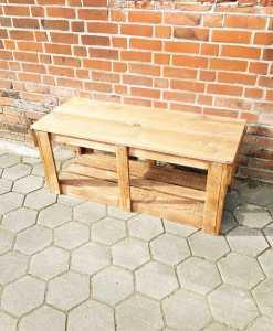 Spielflächenerweiterung Groß aus Holz für Matschküchen - Modul Plus