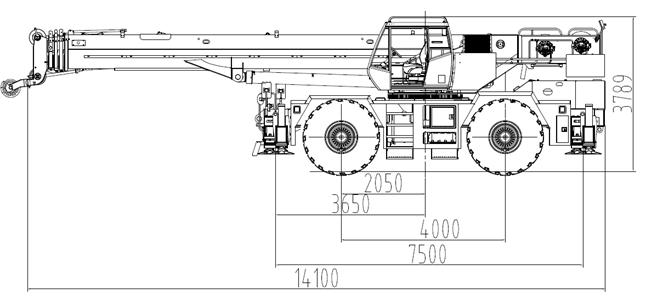 Rough terrain crane SRC600C