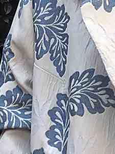 Bristol big collar overcoat, oversize . Canvas with cotton botanic jacquard cotton and silk