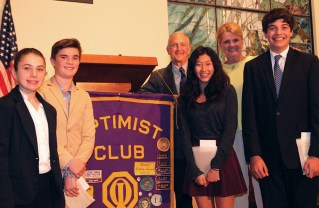 Gottesman, Zhang Win Oratorical Contest – By SUE PASCOE Editor