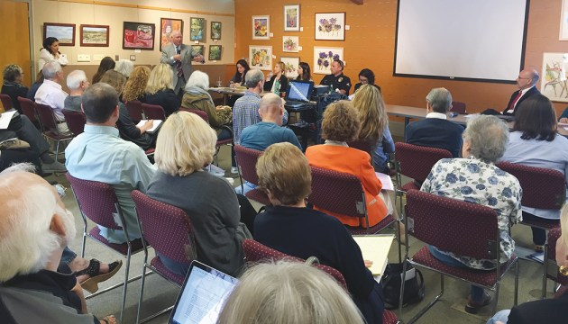 Local, city and county officials met to discuss the homelessness problem.