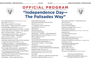 Official 2016 Palisades Fourth of July Parade Program