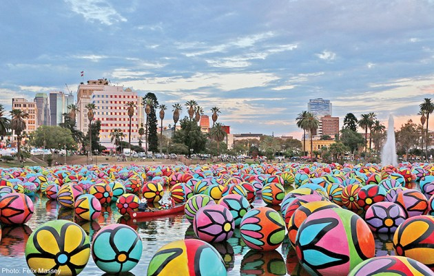 Spheres at MacArthur Park. Photo: Felix Massey