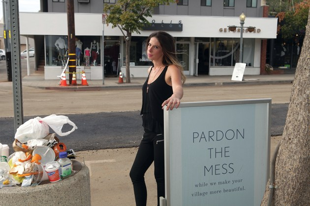 Carly Kamerman's store is impacted by construction. Photo: Bart Bartholomew