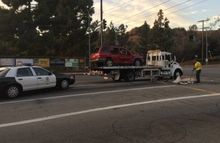 Rollover accident on Temescal Canyon Road on Nov. 15, 2016.