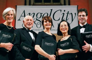 Pacific Palisades residents who are members of the Angel City Chorale are (left to right) Marian Niles, Harry Eden, Cheryl Robinson, Julia Chang and Adam Wolman.