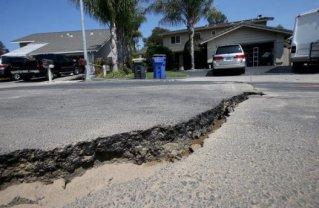 Damaged street