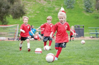 Younger children can play soccer at the YMCA. Photo: Lesly Hall Photography
