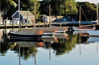 Classic Herresshof 12's at rest in Wychmere Harbor on Cape Cod.