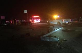 Traffic collision with a telephone pole on Saturday, Feb. 10. at Sunset and Amalfi. Credit: Palisades Patrol