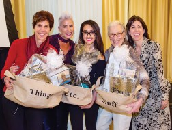 (Left to right) Attendees included Palisadian Yvette Richardson; Gina Rivera, founder of Phenix Salon Suites; two unidentified guests and Dr. Nicole Weinburg. Photo: Lauren Lewow