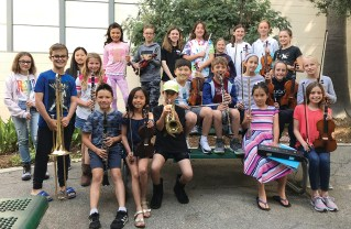 These Palisades elementary school musicians were selected to perform with the All Schools Elementary Honor Orchestra.