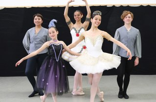 Dancing at the Broad are (back row, left to right) Marius Popo, Olivia Polite and Stefan Goy; (front row) Brooke Freyer (left) and Mirabelle Weinbach.