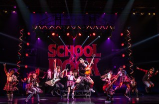 "Rob Colletti and the kids in ""School of Rock: The Musical"" at the Pantages explode with fun. Credit: Matthew Murphy"