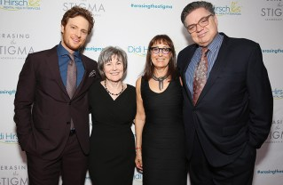 (Left to right): Chicago Med co-star Nick Gehlfuss, who presented the honor to Oliver Platt; Kita S. Curry, Didi Hirsch President and CEO; Event Chair and Palisades resident Laura Ornest; and actor Oliver Platt who was one of the evening's honorees.