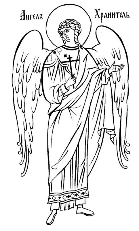 14 Drawings of Theotokos, Angels and Saints for your own